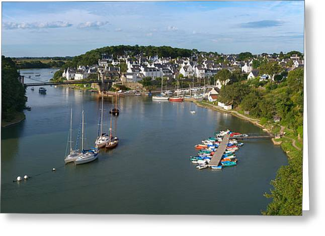 Boats In The Sea, Le Bono, Gulf Of Greeting Card by Panoramic Images