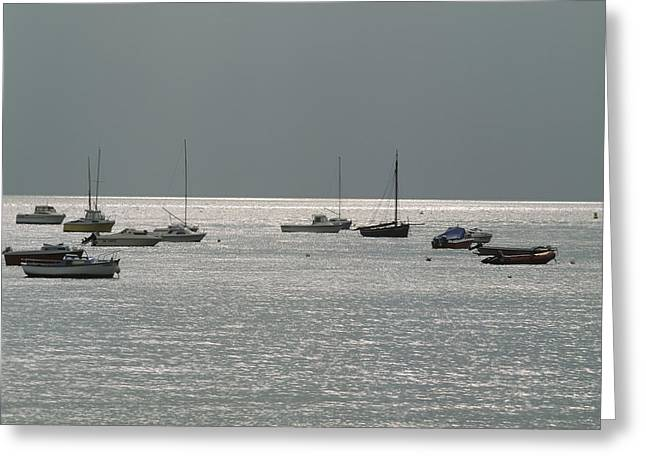 Boat Greeting Cards - Boats in the sea. Normandy. France. Europe Greeting Card by Bernard Jaubert