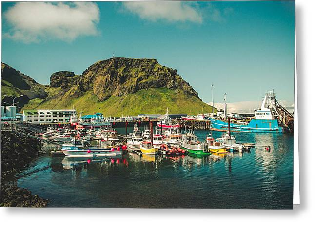 Kjona Greeting Cards - Boats in Vestmannaeyjar Greeting Card by Mirra Photography