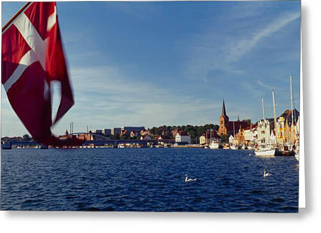Masts Greeting Cards - Boats Moored At The Dock, Sonderborg Greeting Card by Panoramic Images