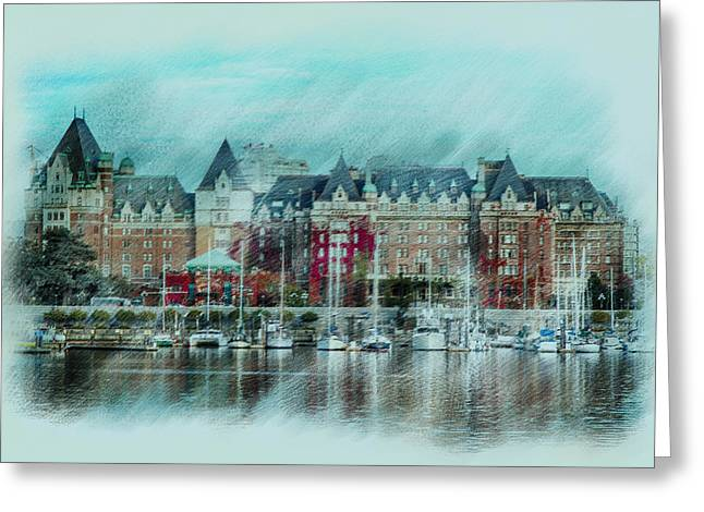 City Scapes Greeting Cards Greeting Cards - Boats of Victoria Greeting Card by Mary Timman