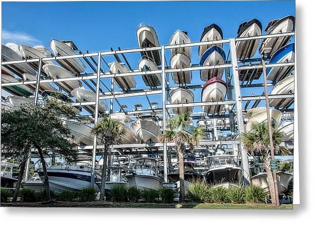Ocean Springs Yacht Club Greeting Cards - Boats Greeting Card by Oleg Koryagin