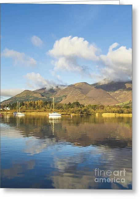 Wainwright Greeting Cards - Boats On Derwent Greeting Card by Linsey Williams
