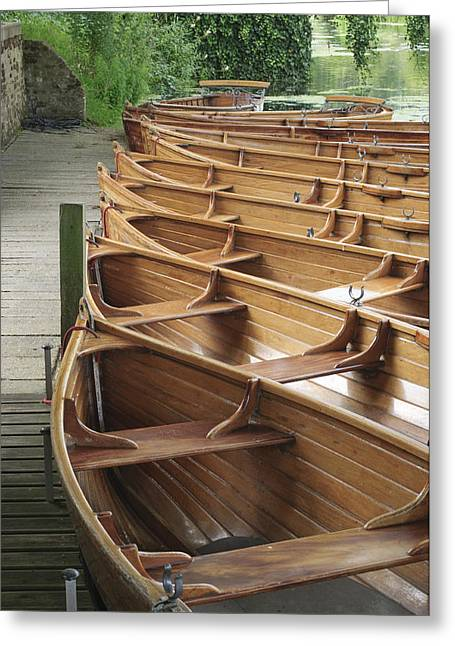 Vale Greeting Cards - Boats on river Stour UK Greeting Card by Dariusz Gora
