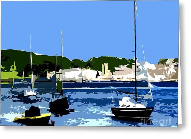 Boats On Strangford Lough Greeting Card by Patrick J Murphy