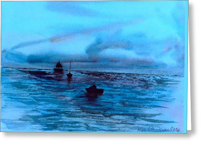 Boats On The Chesapeake Bay Greeting Card by Kendall Kessler