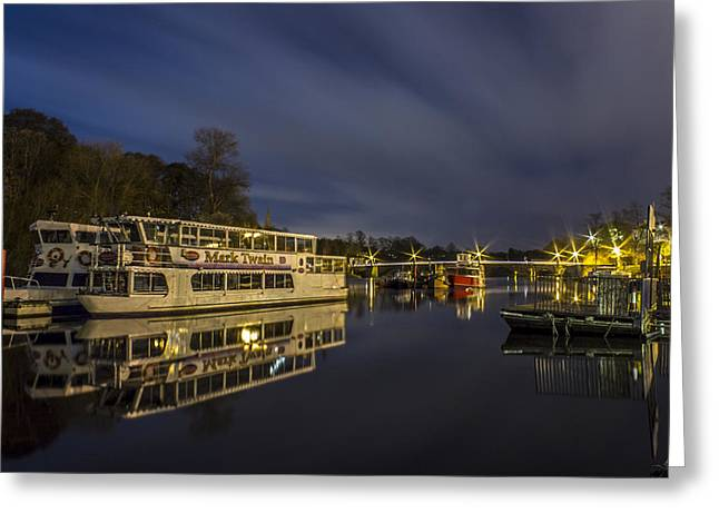 River Dee Greeting Cards - Boats on the River Dee - Chester Greeting Card by Paul Madden