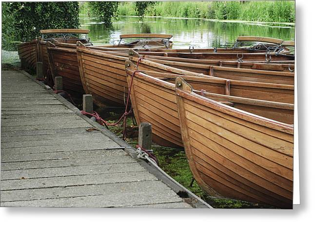 Dedham Greeting Cards - Boats on the river Stour Dedham Vale Greeting Card by Dariusz Gora