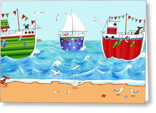 Sea Animals Greeting Cards - Boats Greeting Card by Peter Adderley