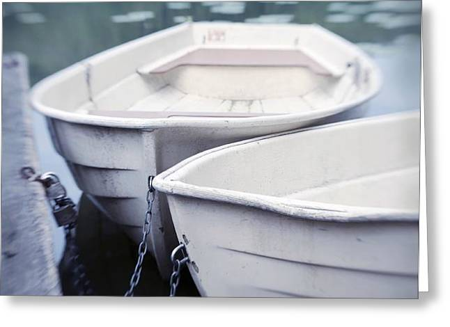 Boats Greeting Card by Priska Wettstein