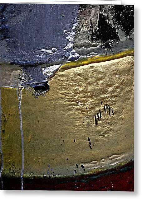 Beach Photography Greeting Cards - Boatyard Paint Greeting Card by Richard Smukler
