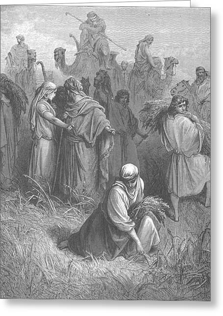 Dore Paintings Greeting Cards - Boaz and Ruth Greeting Card by Gustave Dore