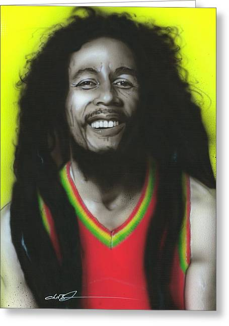 Hippy Greeting Cards - Bob Greeting Card by Christian Chapman Art