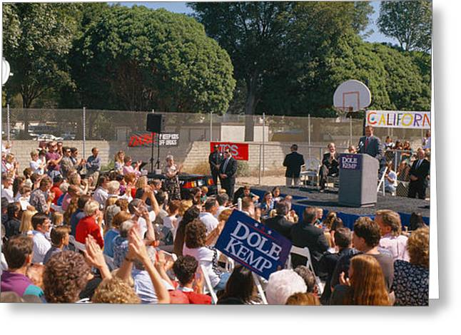 Conservatives Greeting Cards - Bob Dole Presidential Campaign Speech Greeting Card by Panoramic Images