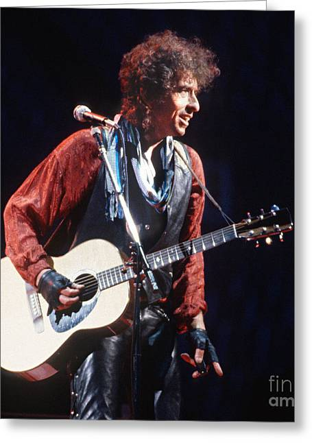 Bob Dylan Print Greeting Cards - Bob Dylan 1986 Buffalo Greeting Card by Chuck Spang