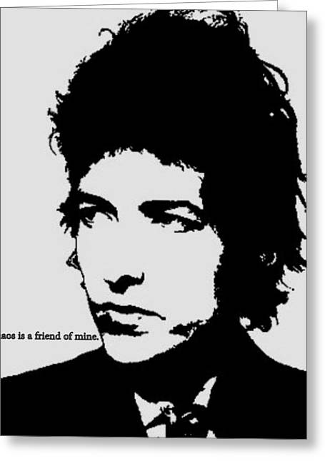 Bob Dylan Print Greeting Cards - Bob Dylan Greeting Card by Cat Jackson