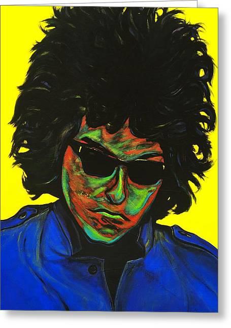 Bob Dylan Greeting Card by Edward Pebworth