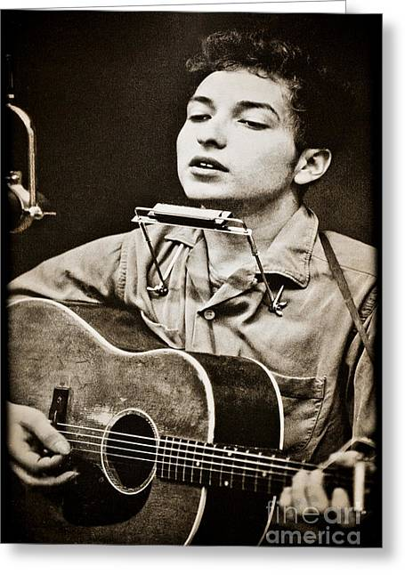 Robert Allen Zimmerman Greeting Cards - Bob Dylan Greeting Card by Gary Keesler