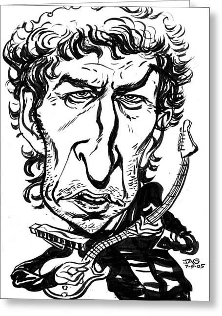Bob Dylan Greeting Card by John Ashton Golden