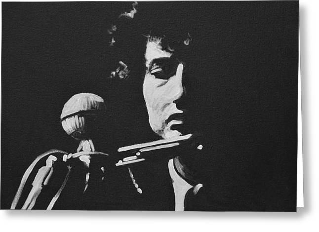 Bob Dylan Greeting Card by Melissa O'Brien