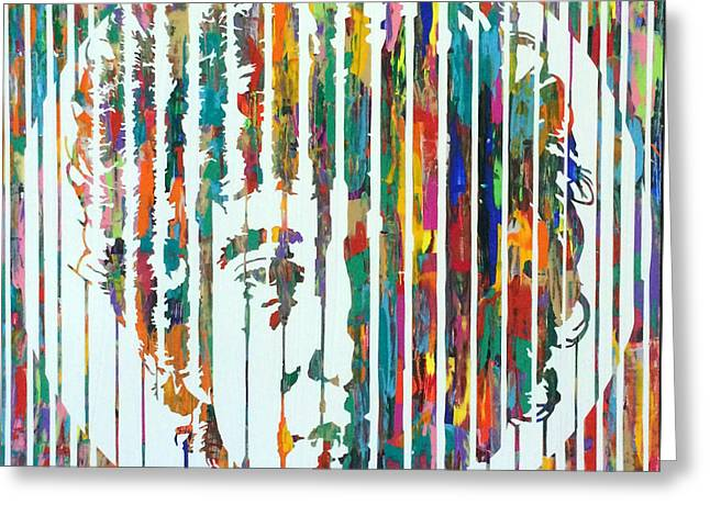 Chromatic Paintings Greeting Cards - Bob Dylan Greeting Card by Sean Ward