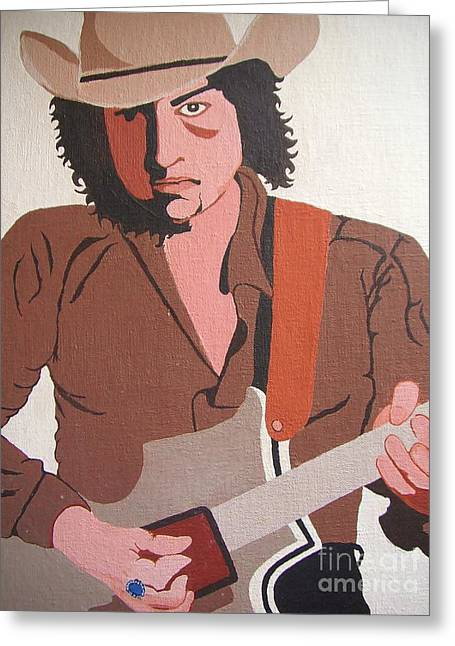 Rolling Stones Photographs Greeting Cards - Bob Dylan - Celebrities Greeting Card by Susan Carella
