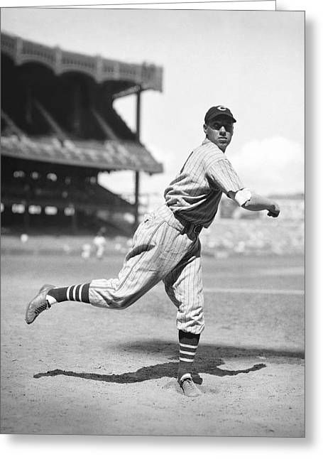 Historical Pictures Greeting Cards - Bob Feller Follow Through Greeting Card by Retro Images Archive
