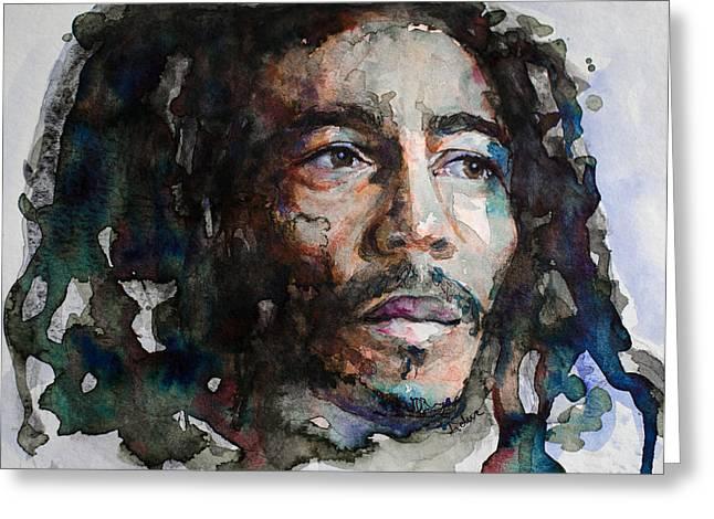 Bob Marley Artwork Greeting Cards - Bob Greeting Card by Laur Iduc