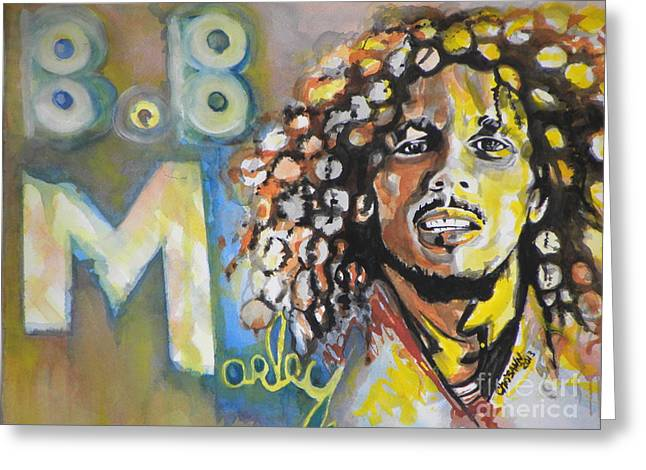 Famous Artist Greeting Cards - Bob Marley 03 Greeting Card by Chrisann Ellis