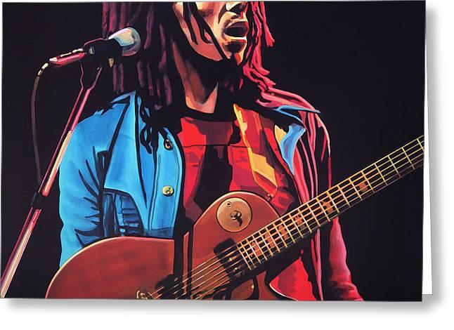 Bob Marley 2 Greeting Card by Paul  Meijering