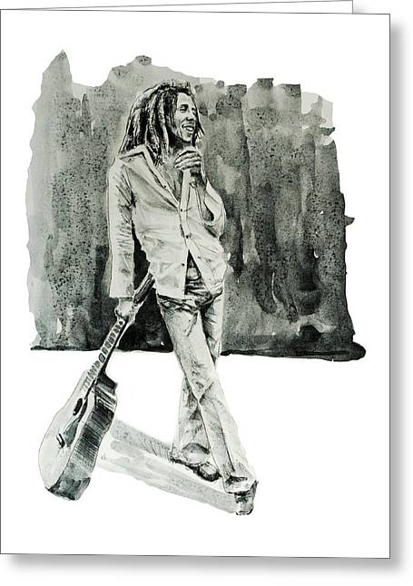 Dreadlock Greeting Cards - Bob Marley 3 Greeting Card by MB Art factory