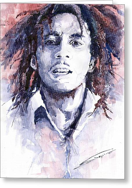 Star Greeting Cards - Bob Marley 3 Greeting Card by Yuriy  Shevchuk
