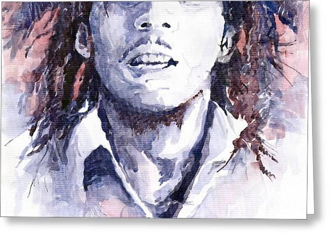 Bob Marley 3 Greeting Card by Yuriy  Shevchuk