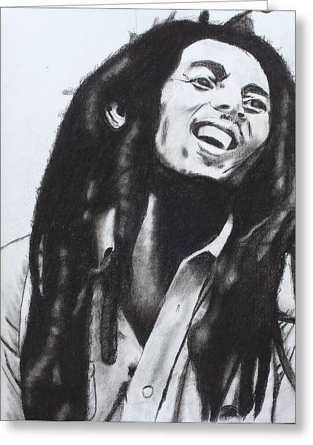 Aaron Balderas Greeting Cards - Bob Marley Greeting Card by Aaron Balderas