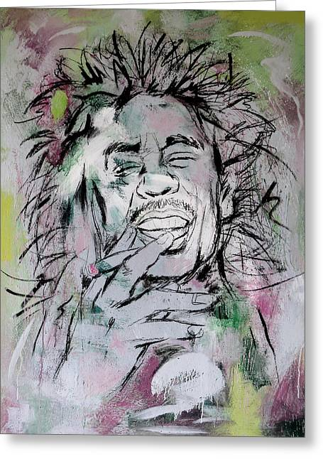 Most Greeting Cards - Bob Marley art painting sketch poster Greeting Card by Kim Wang
