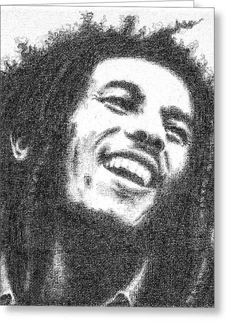Cob Drawings Greeting Cards - Bob Marley Greeting Card by Conor OBrien