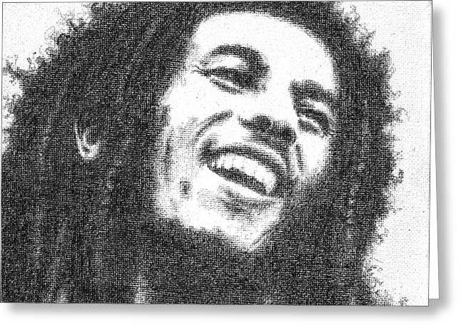 Conor Drawings Greeting Cards - Bob Marley Greeting Card by Conor OBrien