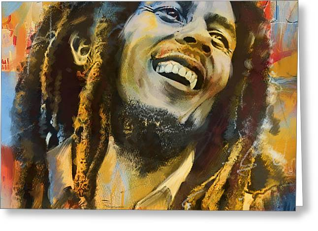 Bob Marley Greeting Card by Corporate Art Task Force