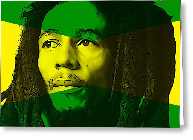 Peace Activist Greeting Cards - Bob Marley Greeting Card by Dan Sproul