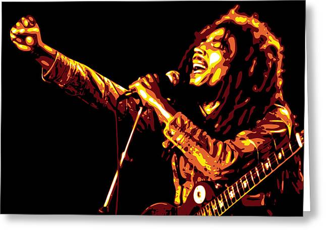 Db Artist Greeting Cards - Bob Marley Greeting Card by DB Artist