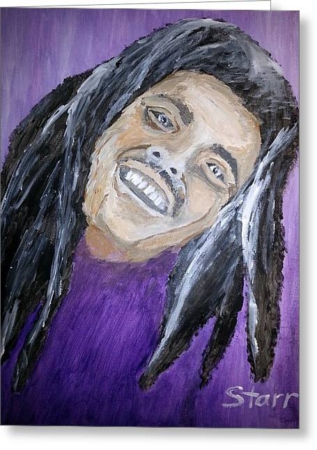 Acclaim Greeting Cards - Bob Marley Greeting Card by Irving Starr