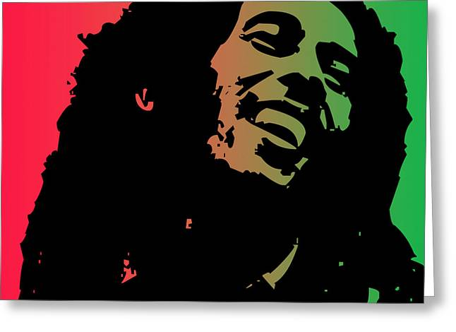 Poster Pyrography Greeting Cards - Bob Marley Greeting Card by Lawrence Hubbs