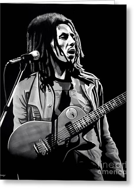 Stir Mixed Media Greeting Cards - Bob Marley Tuff Gong Greeting Card by Meijering Manupix
