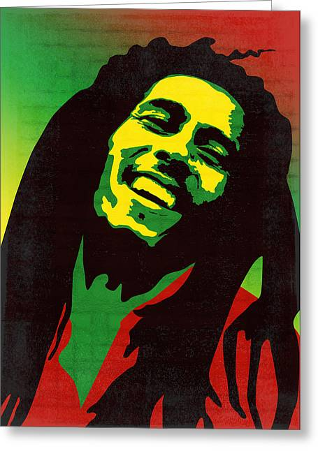 Pater Greeting Cards - Bob Marley  Greeting Card by Mihaela Pater