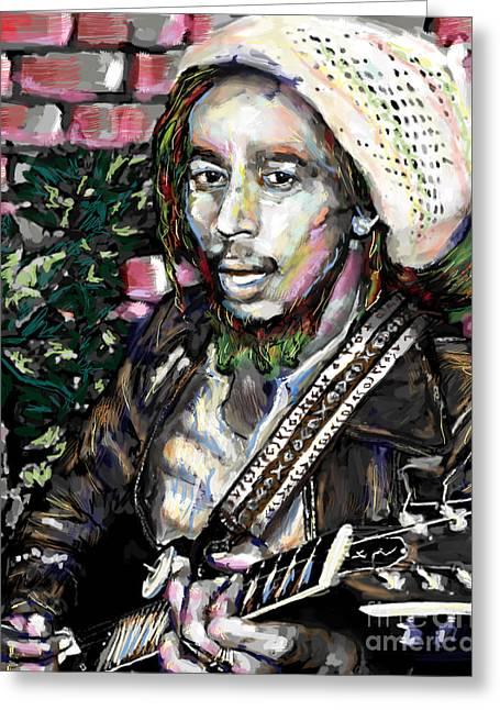 Reggae Music Art Greeting Cards - Bob Marley Painting Greeting Card by Ryan RockChromatic