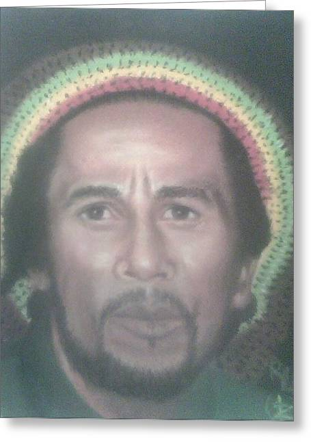 Celebrity Portraits Pastels Greeting Cards - Bob Marley  Greeting Card by Ronnie Melvin