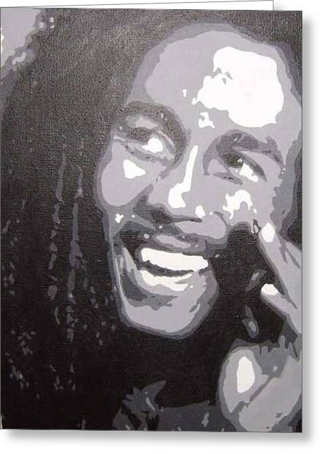 Samantha Greeting Cards - Bob Marley Greeting Card by Samantha Harding