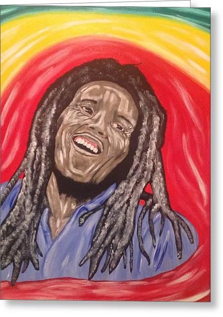 Scott Wilmot Greeting Cards - Bob Marley Greeting Card by Scott Wilmot