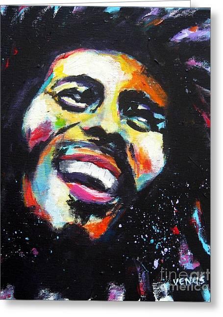 Bob Marley Artwork Greeting Cards - Bob Marley Greeting Card by Venus