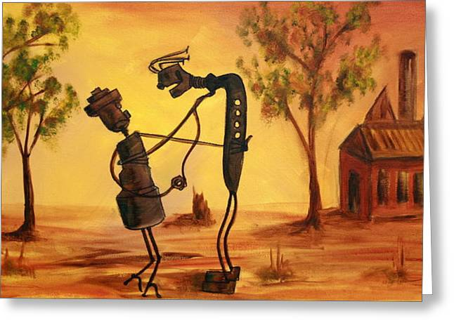 Lyndsey Hatchwell Greeting Cards - Bob n Betty - Broken Hill Greeting Card by Lyndsey Hatchwell